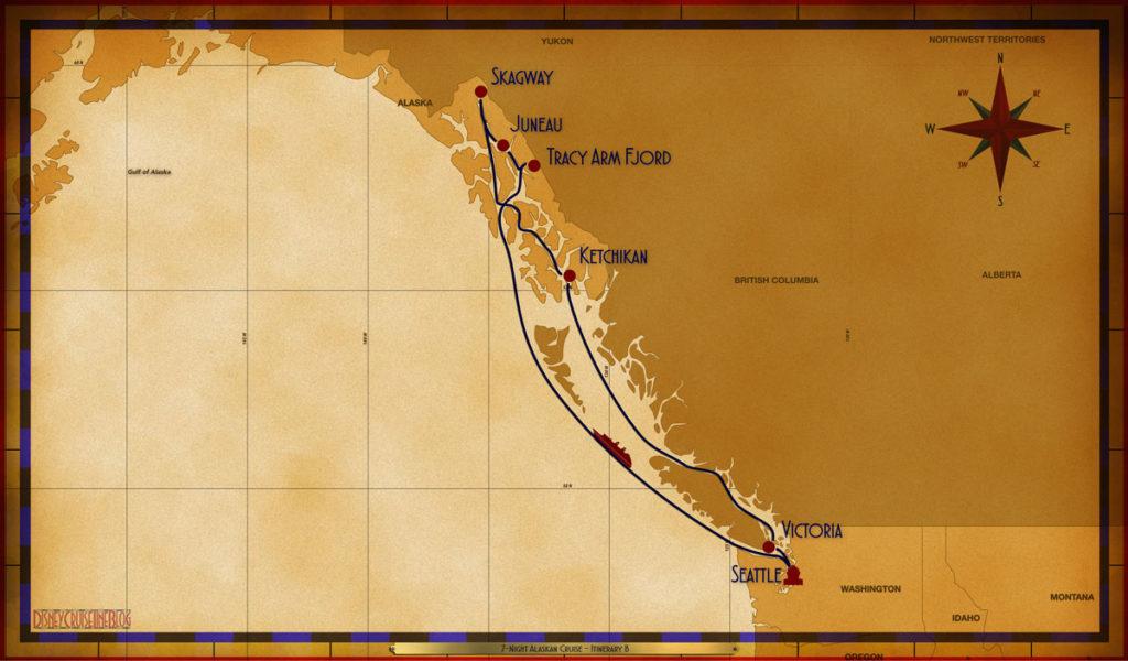 Map Wonder 7 Night Alaskan SEA SEA TRM SGY JNU KTN VIC