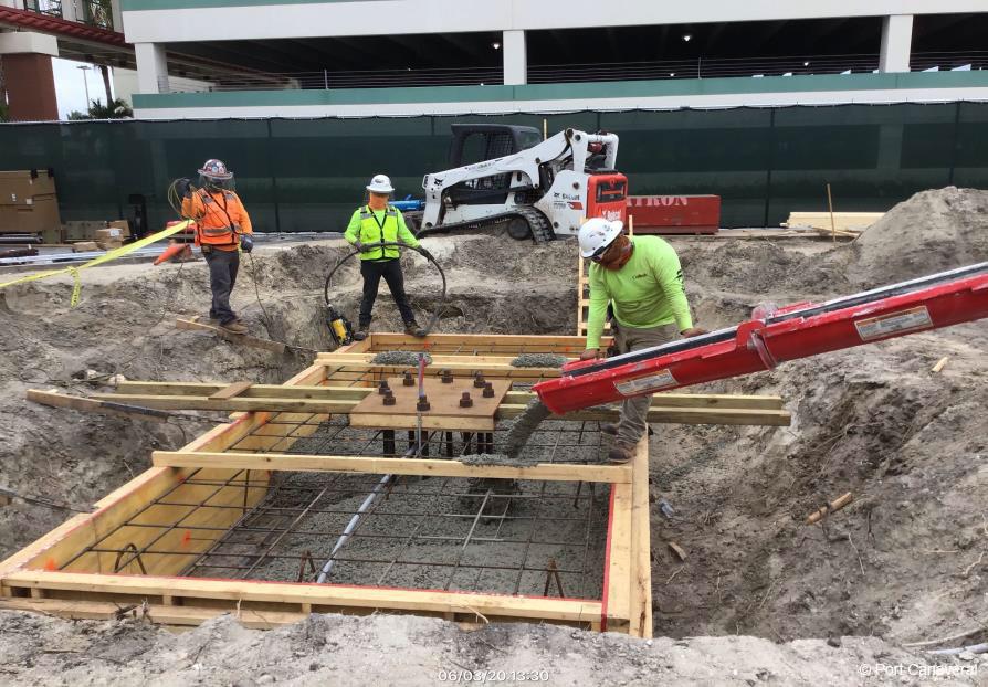 Port Canavera CT8 Remodel Concrete Footer June 2020