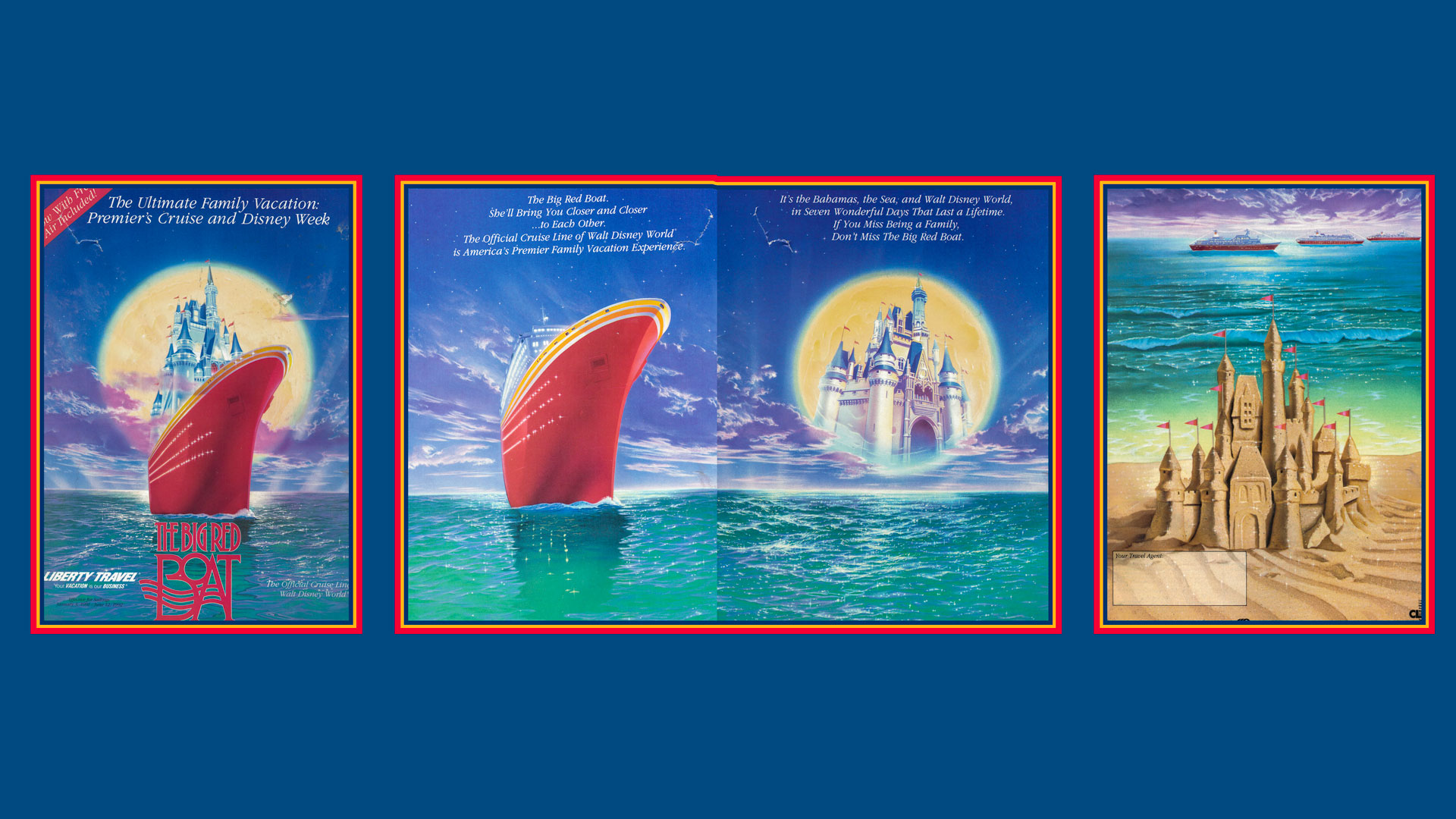 Premier Cruise Line Big Red Boat Booklet 1991 92