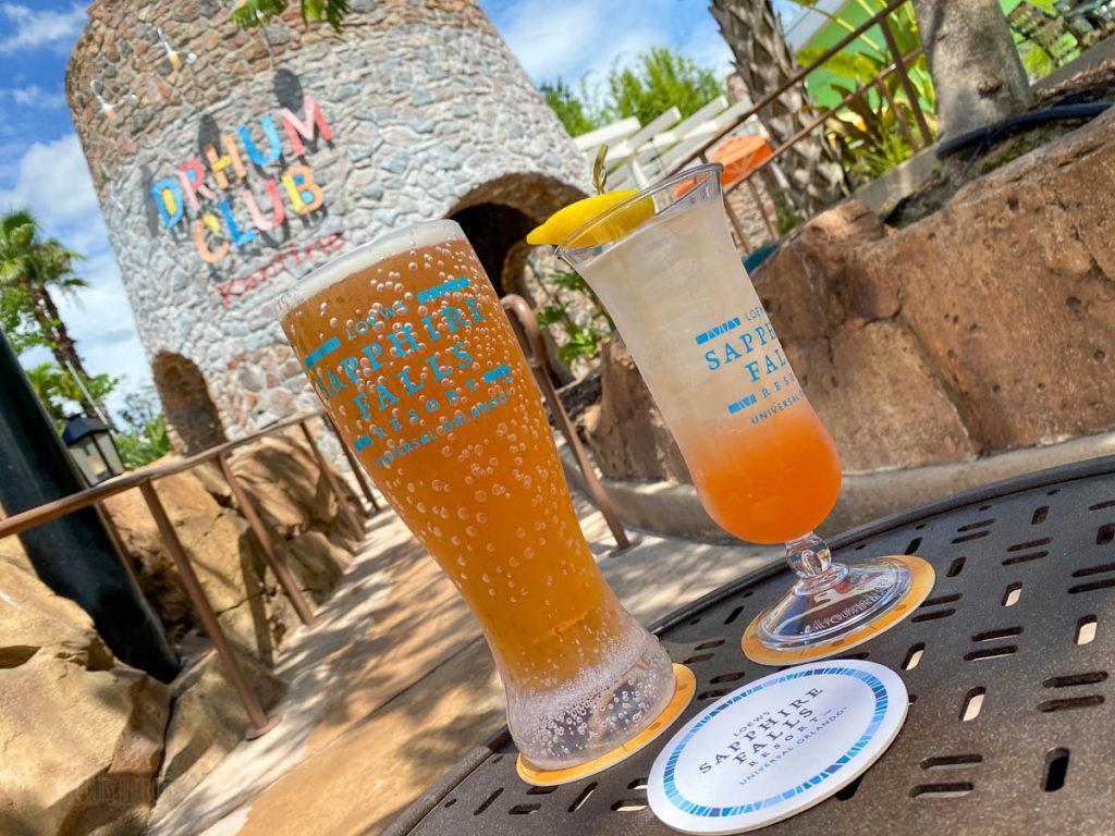 Sapphire Falls Pool Drhum Club Bar Souvinir Cocktail Beer