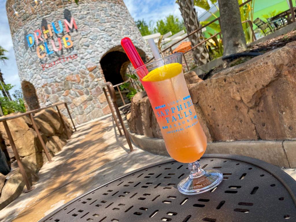 Sapphire Falls Pool Drhum Club Bar Tanqueray Sunshine Gin