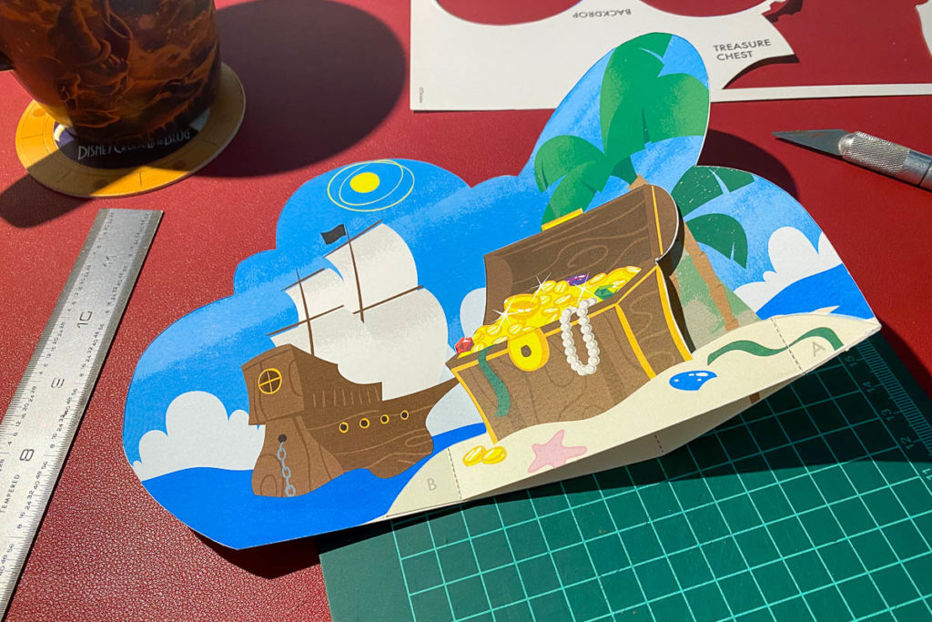 DCL 3D Paper Craft Pirates Backdrop Treasure Chest