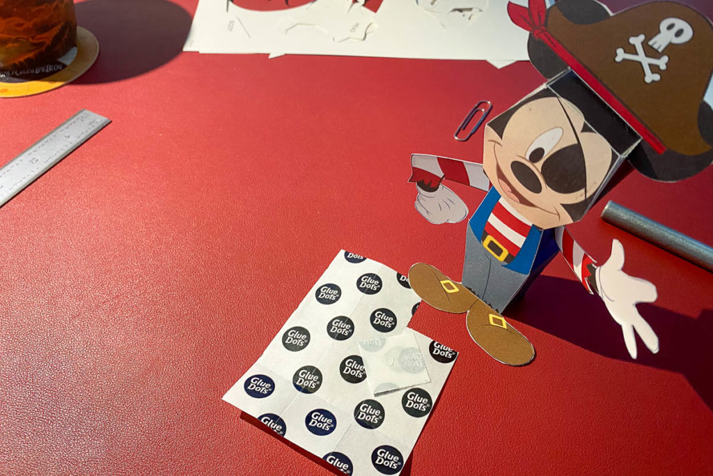 DCL 3D Paper Craft Pirates Mickey Assembled