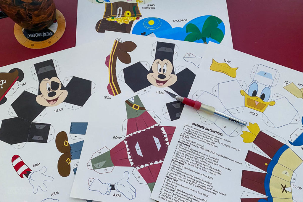 DCL 3D Paper Craft Pirates Paper Printed