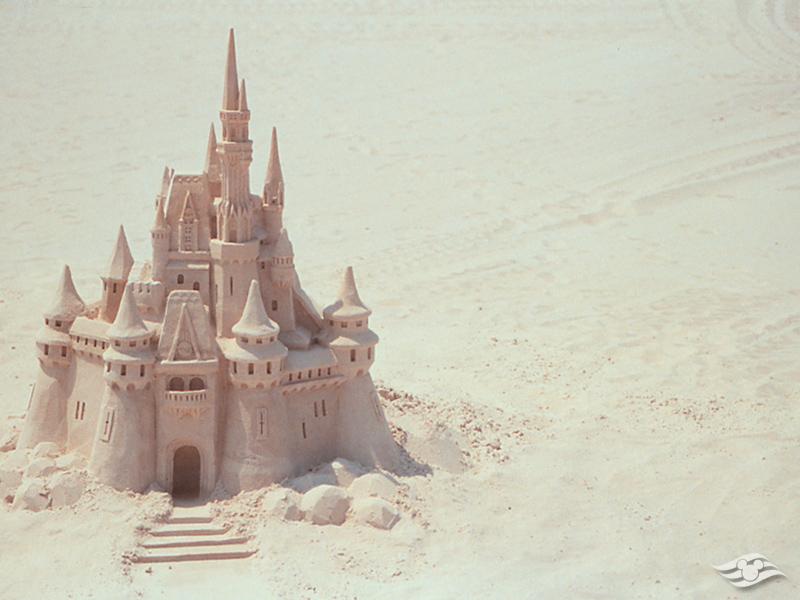 DCL Castaway Club Shoreside Survival Kit Sand Castle