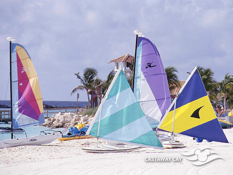 DCL Castaway Club Shoreside Survival Kit Screen Saver 10 Castaway Cay Sial Boats