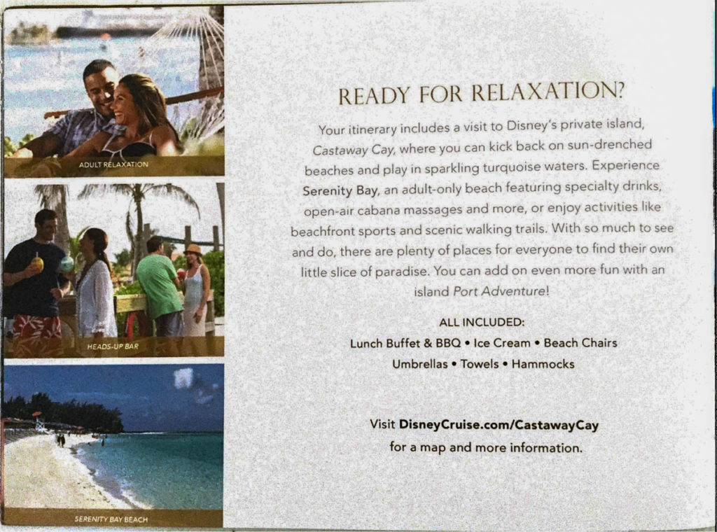 DCL Pre Arrival Booklet Dream 16