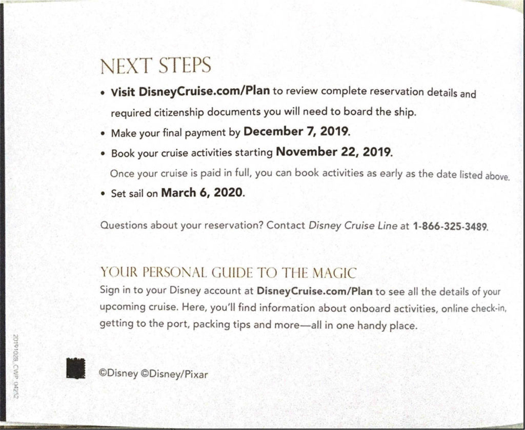 DCL Pre Arrival Booklet Dream 22