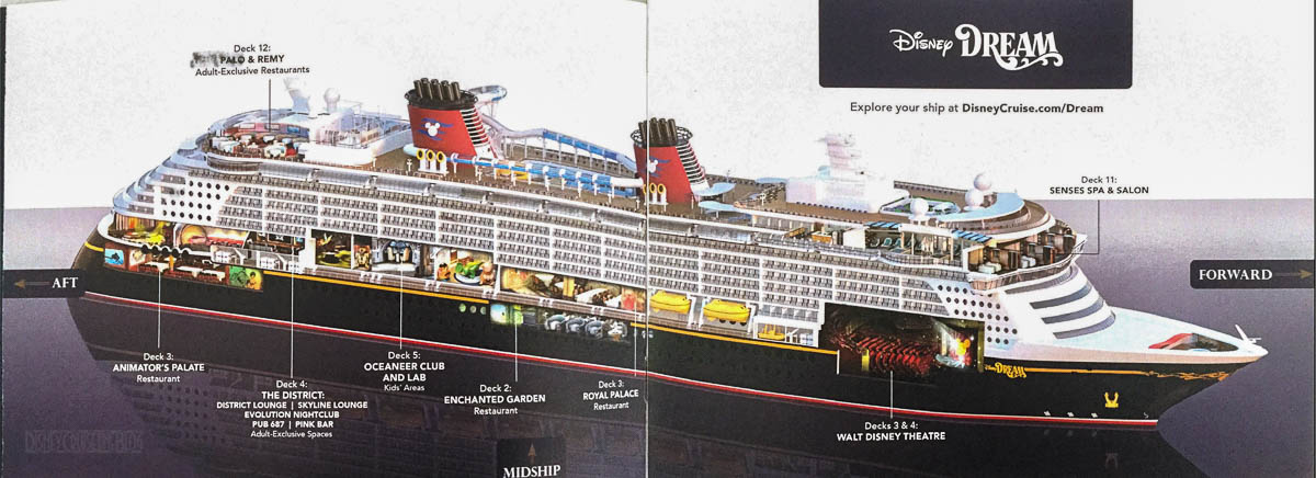 DCL Pre Arrival Booklet Dream 4 5 Ship Cutaway