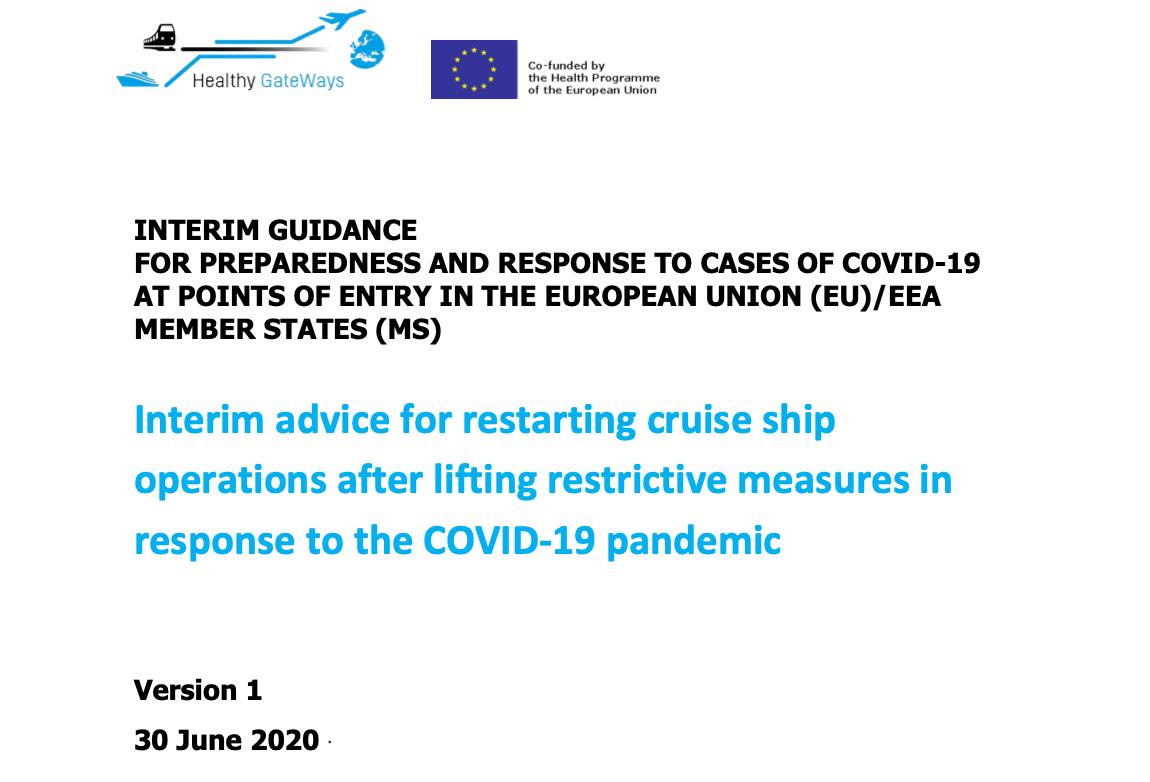 EU HEALTHY GATEWAYS COVID 19 RESTARTING CRUISES V20200701