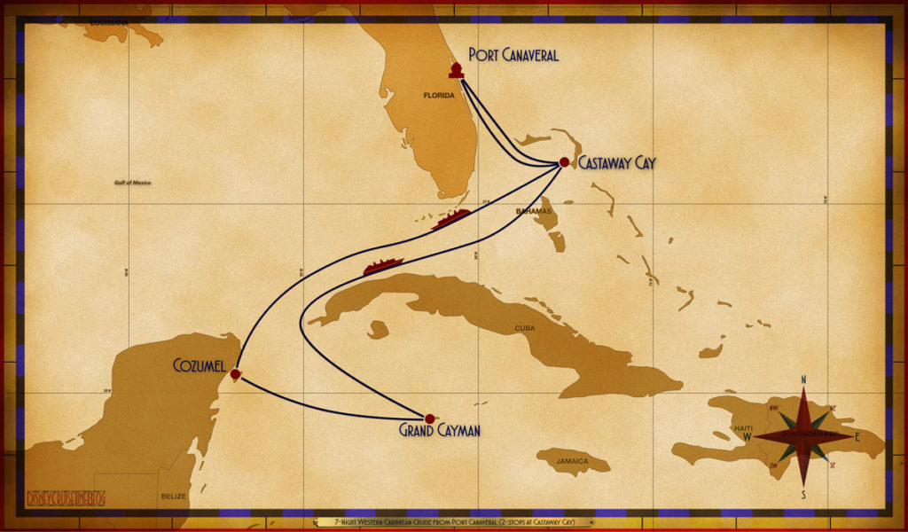Map Fantasy 7 Night Western Caribbean PCV GOC SEA CZM GEC SEA GOC