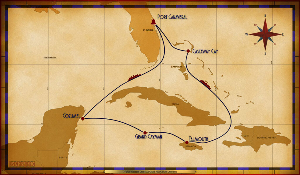 Map Fantasy 7 Night Western Caribbean PCV GOC SEA FMH GEC CZM SEA