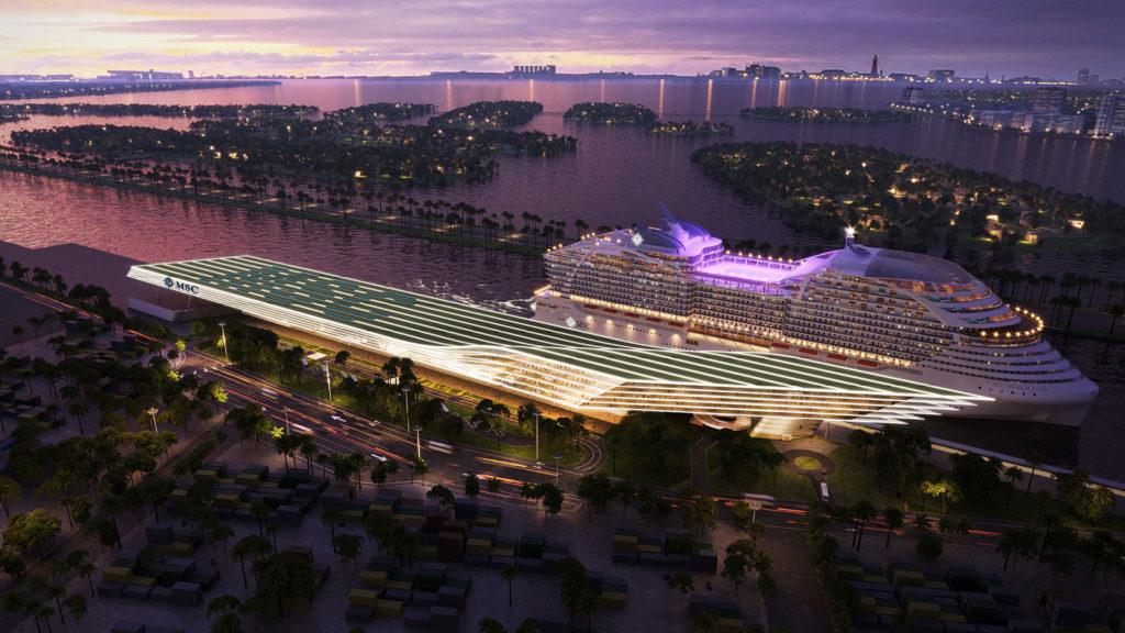 PortMiami MSC Cruise Terminal Rendering 2