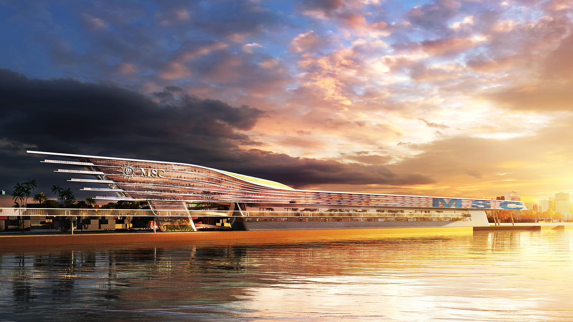 PortMiami MSC Cruise Terminal Rendering 3