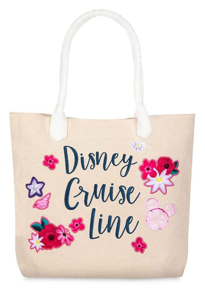 ShopDisney Disney Cruise Line Glittering Canvas Tote Bag