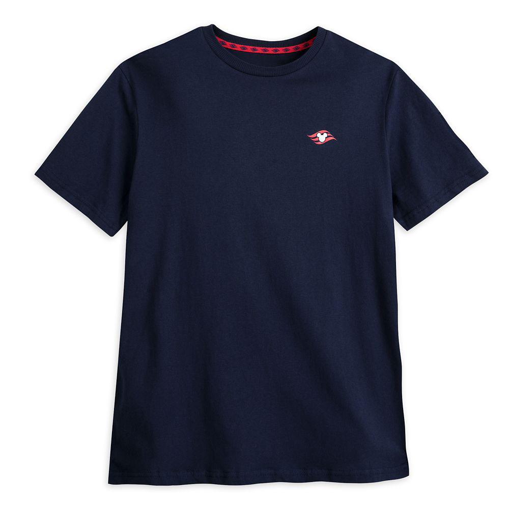 ShopDisney Disney Cruise Line Logo Tee For Adults Navy