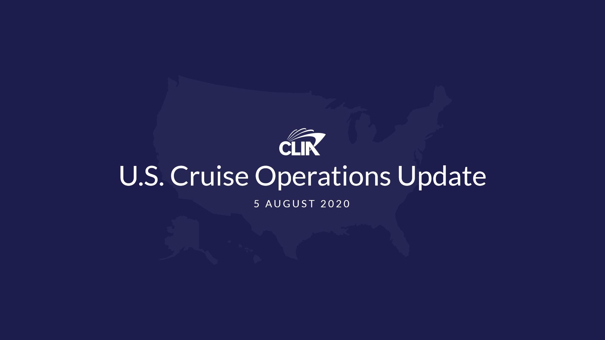 CLIA Cruise Suspension Update 20200805