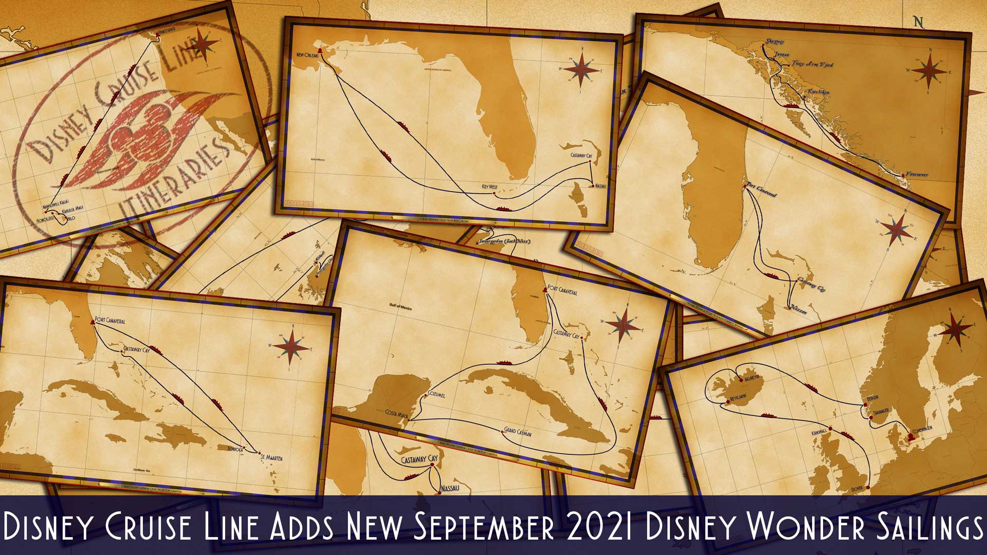 DCL Itinerary Release September 2021 Wonder