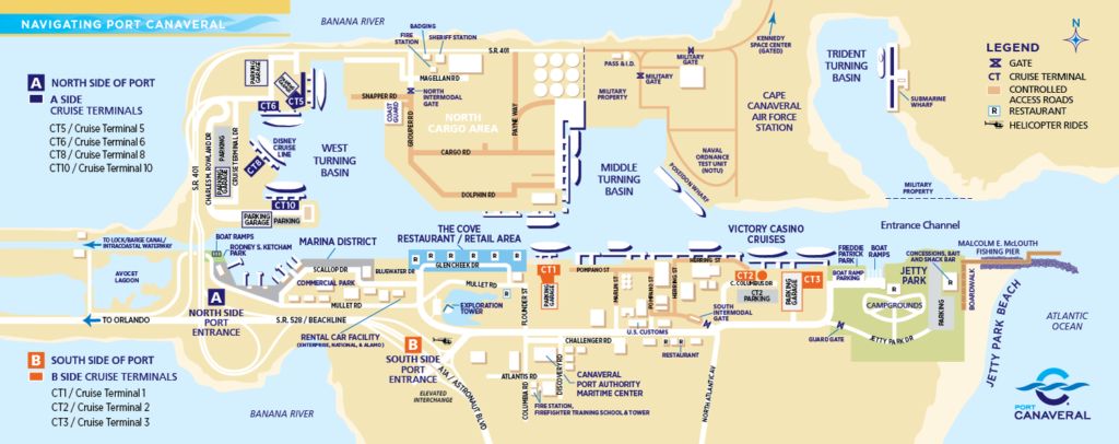Port Canaveral Temrinal Map September 2019