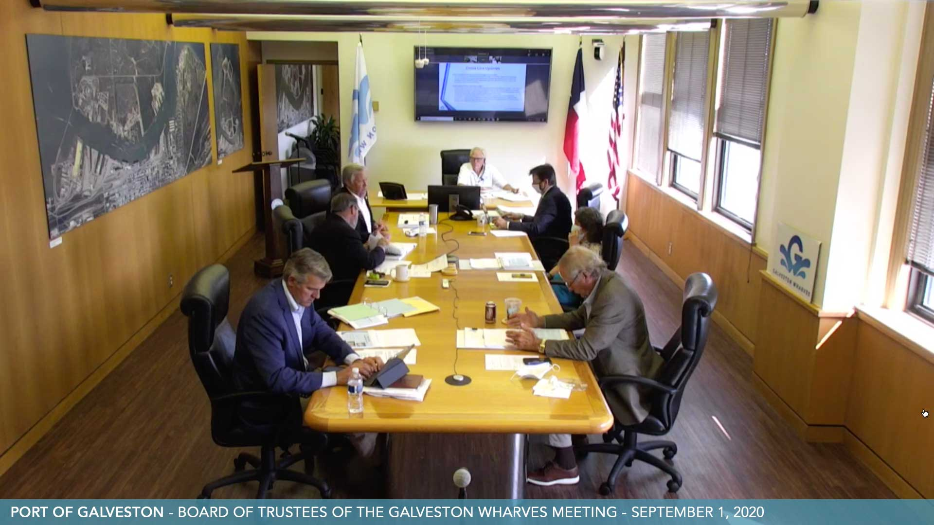 Port Of Galveston Wharves Board Meeting 20200901
