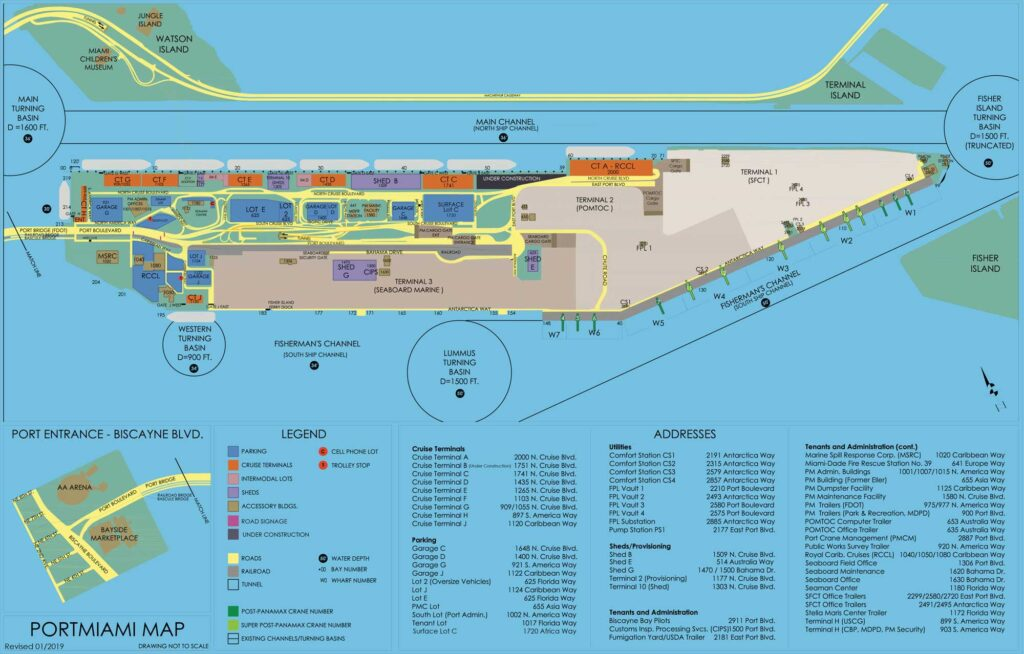 PortMiami Termial Map January 2019