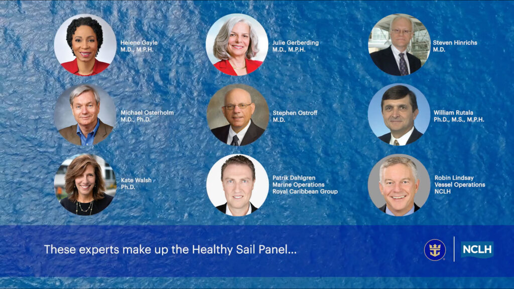 RCL NCL Healthy Sail Expert Panel