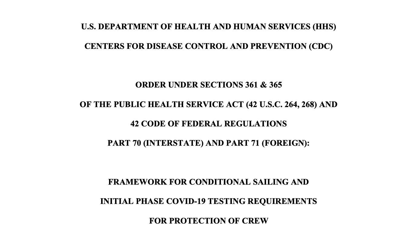 CDC Conditional Sailing Framework 20201030
