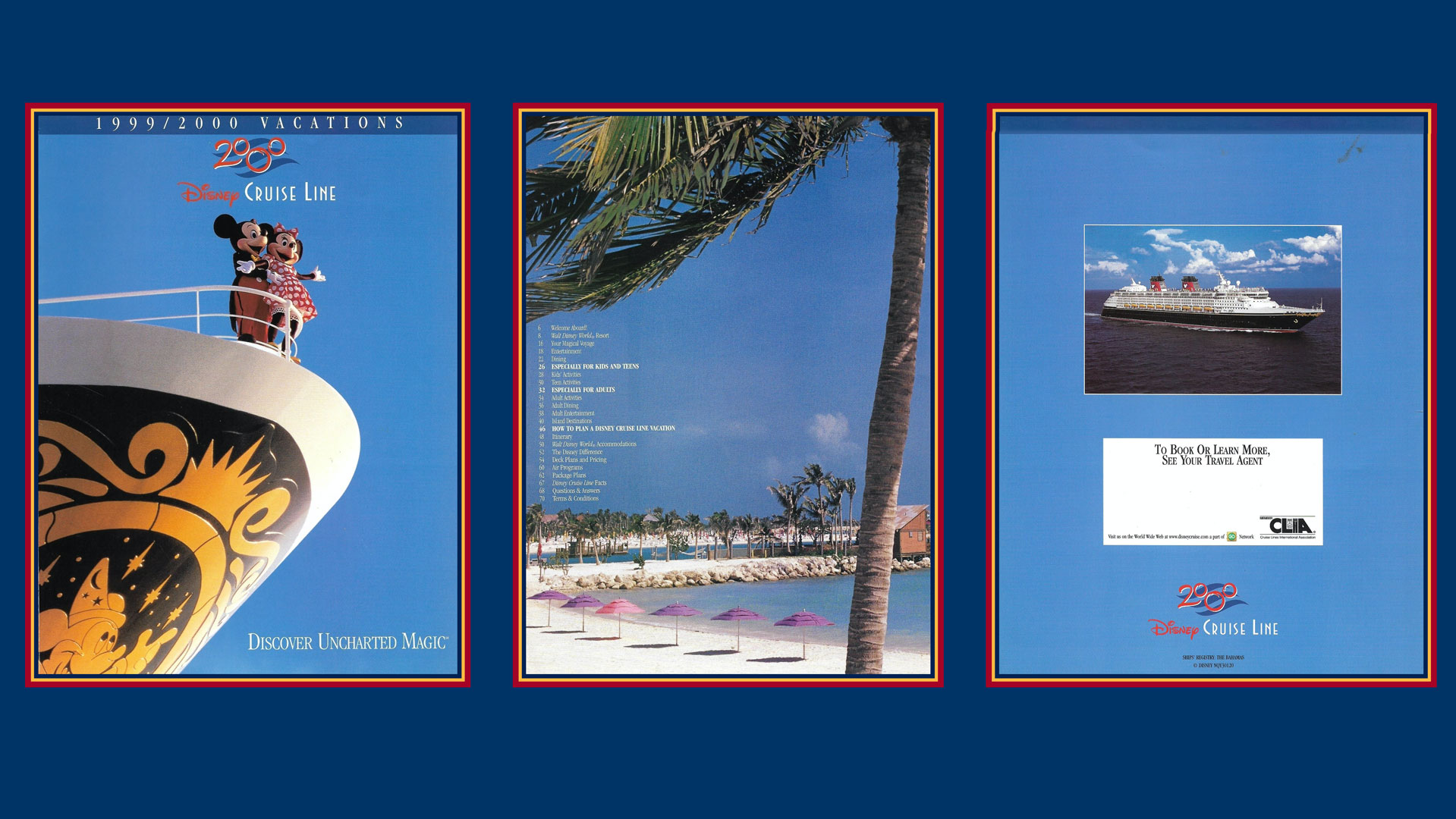 DCL 1999 2000 Vacations Brochure