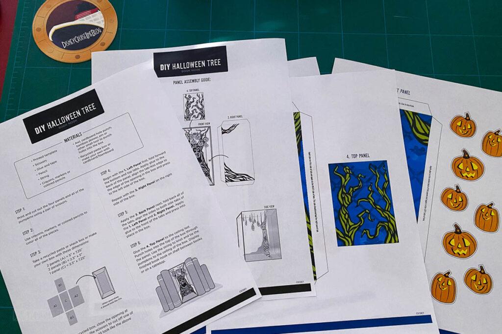 DCL DIY Halloween Tree Book Nook Printables