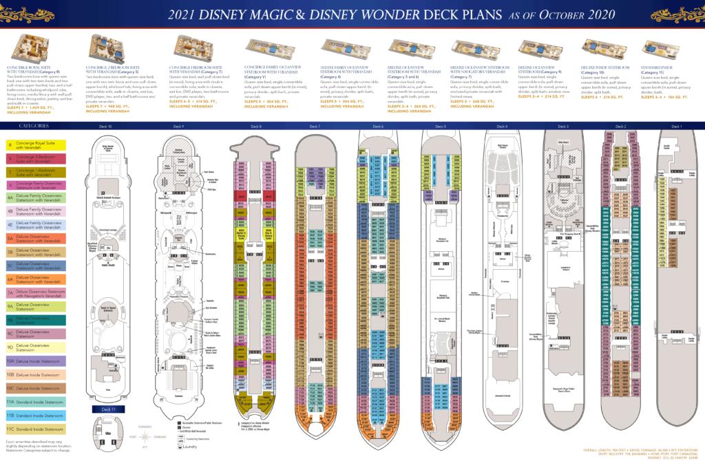 DCL Deck Plans Magic Wonder 2021
