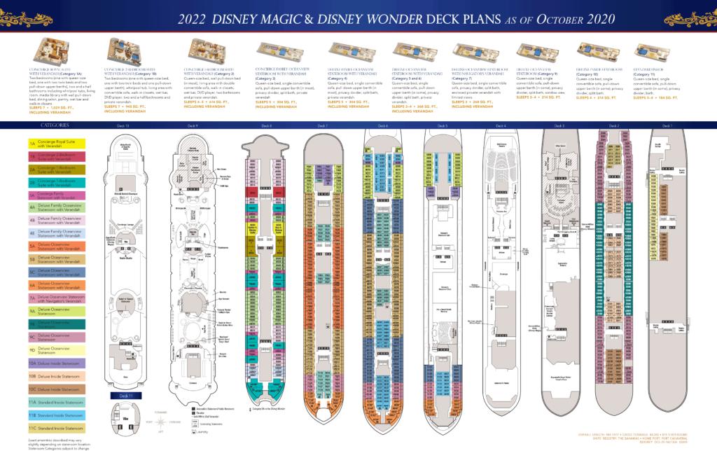 DCL Deck Plans Magic Wonder 2022