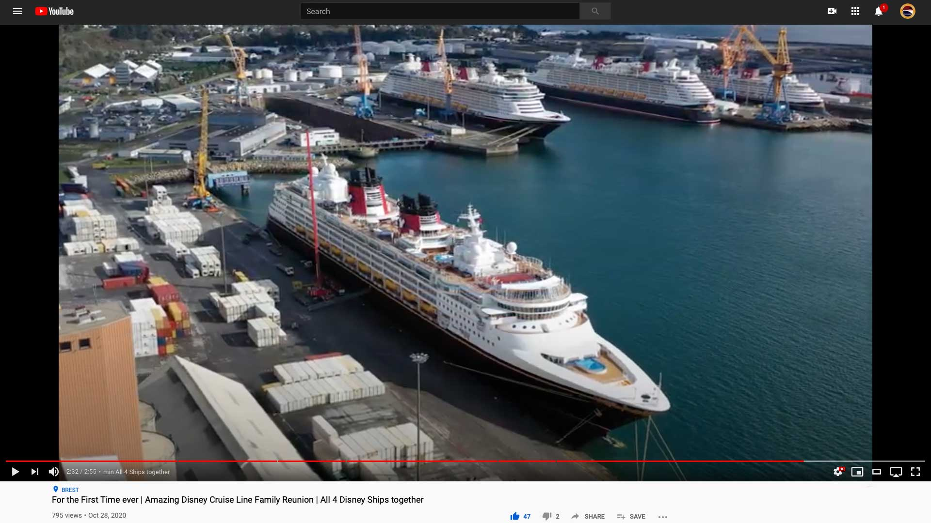 DCL Fleet Brest France Drone Inselvideo 20201014
