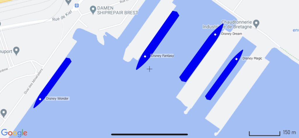 DCL Fleet Brest France MarineTraffic Map 20201004