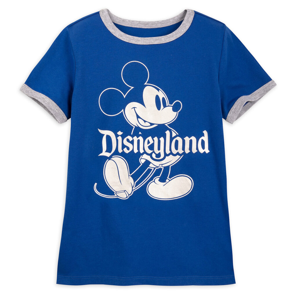 Mickey Mouse Classic Ringer T Shirt For Kids – Disneyland – Wishes Come True Blue