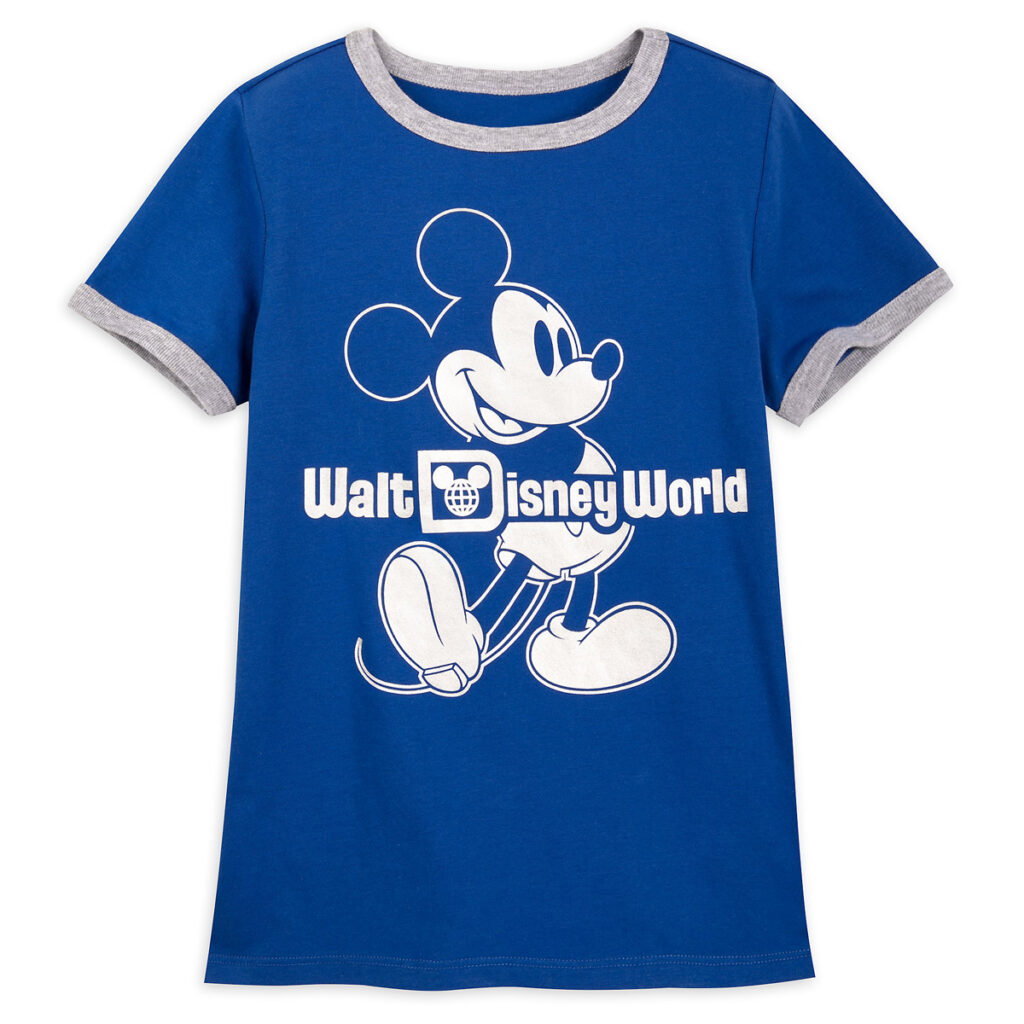 Mickey Mouse Classic Ringer T Shirt For Kids – Walt Disney World – Wishes Come True Blue
