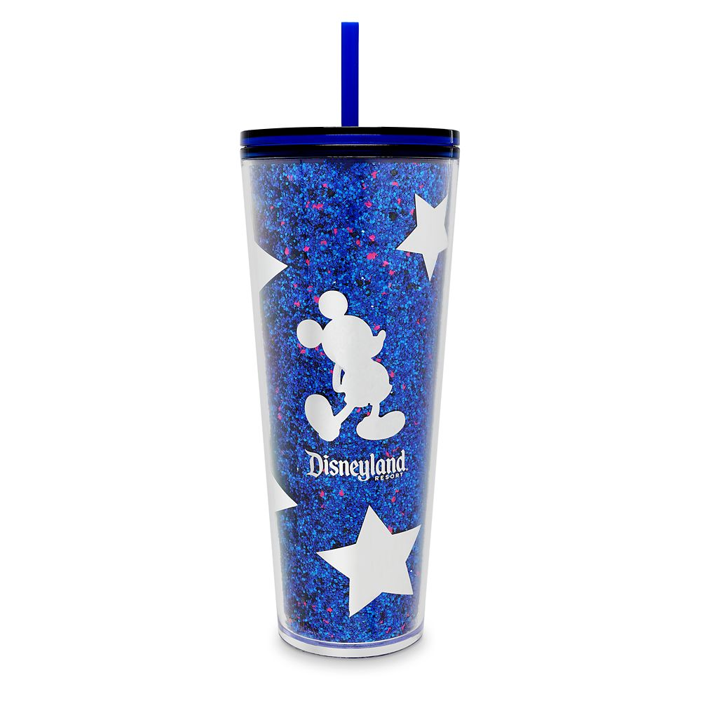 Mickey Mouse Tumbler With Straw By Starbucks – Disneyland – Wishes Come True Blue 1