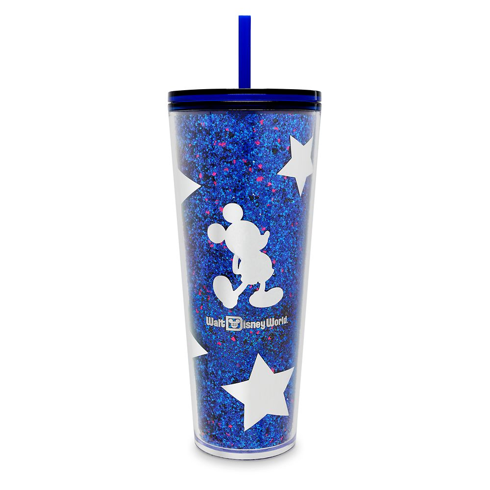 Mickey Mouse Tumbler With Straw By Starbucks – Walt Disney World – Wishes Come True Blue 1