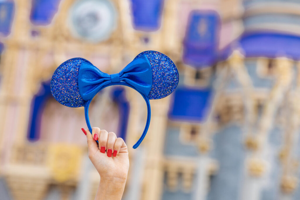Minnie Mouse Ear Headband – Wishes Come True Blue 2