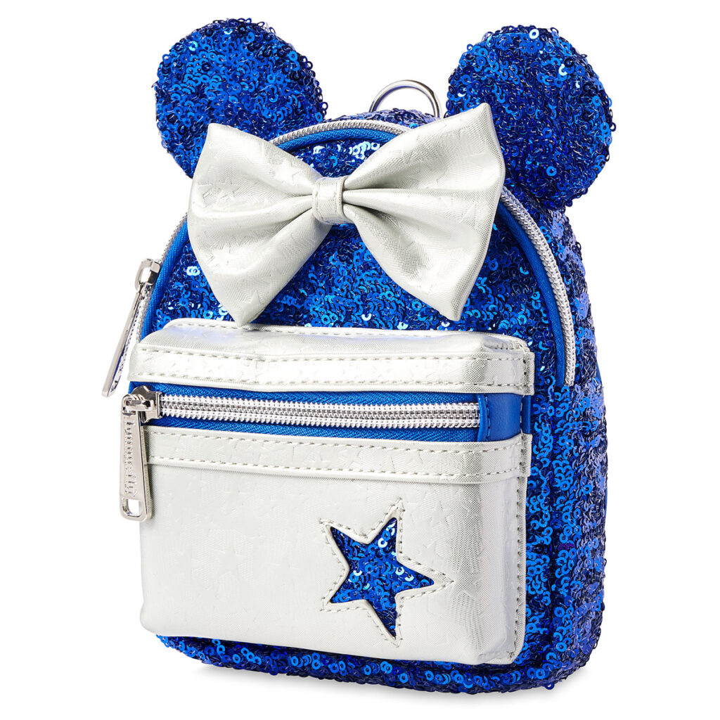 Minnie Mouse Sequined Loungefly Backpack Wristlet – Wishes Come True Blue