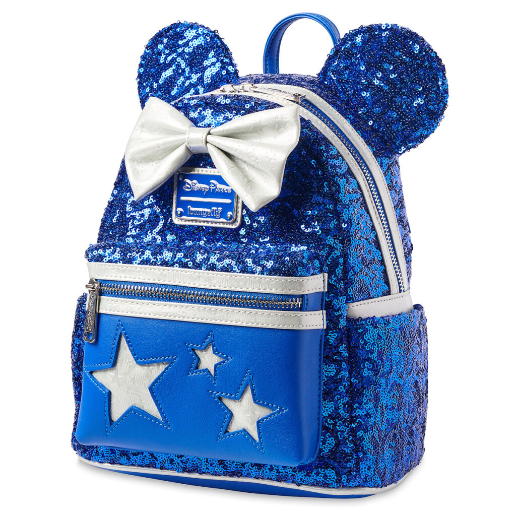 Minnie Mouse Sequined Loungefly Mini Backpack – Wishes Come True Blue