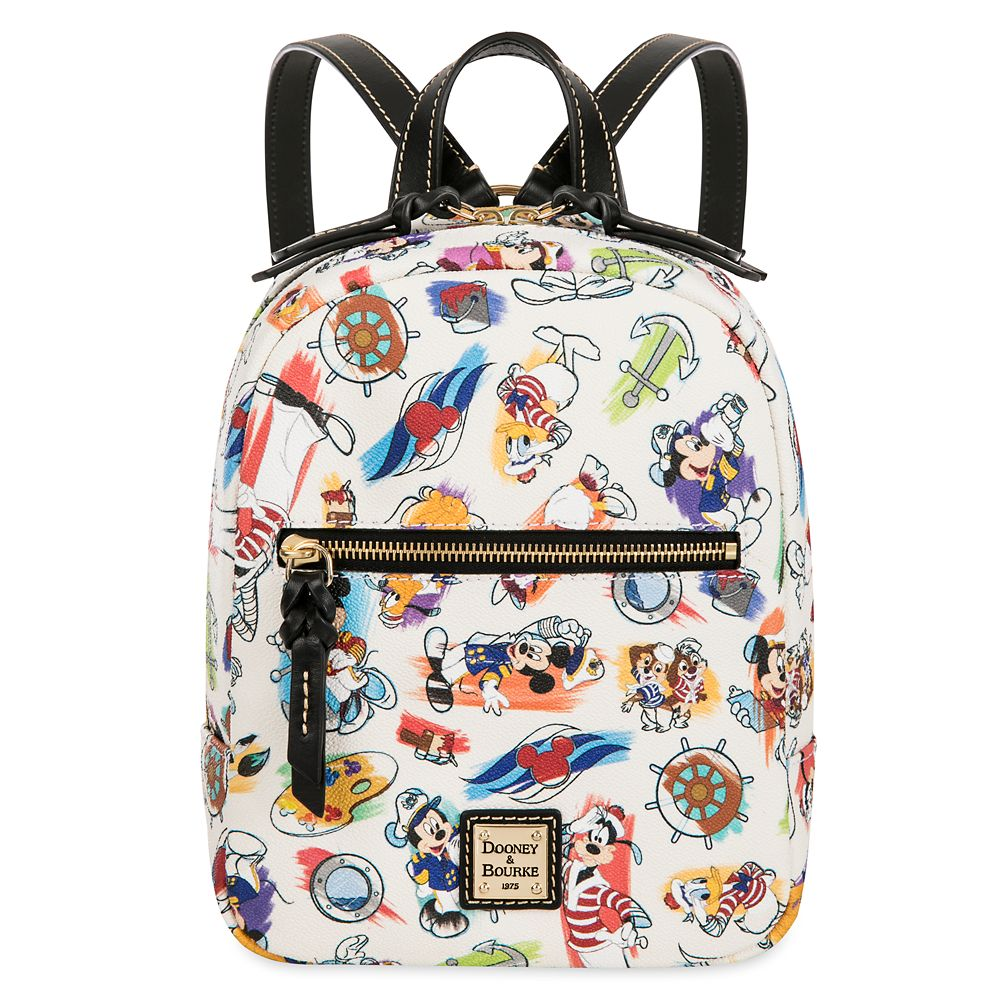 ShopDisney DCL Captain Mickey Mouse Friends Disney Ink Paint Backpack Dooney Bourke 1