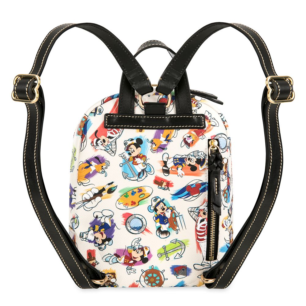 ShopDisney DCL Captain Mickey Mouse Friends Disney Ink Paint Backpack Dooney Bourke 2