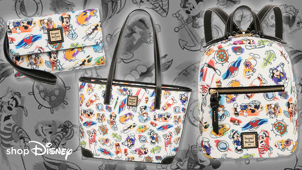 ShopDisney DCL Captain Mickey Mouse Friends Disney Ink Paint Dooney Bourke