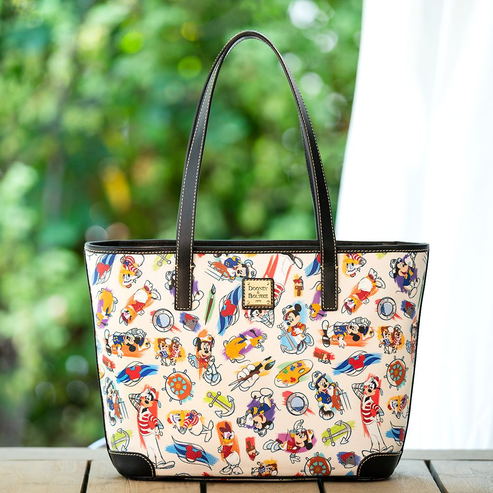 ShopDisney DCL Captain Mickey Mouse Friends Disney Ink Paint Tote Dooney Bourke 1