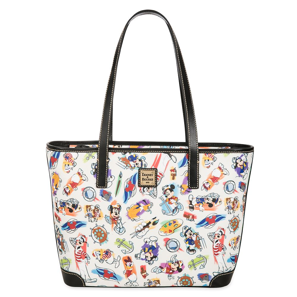 ShopDisney DCL Captain Mickey Mouse Friends Disney Ink Paint Tote Dooney Bourke 2