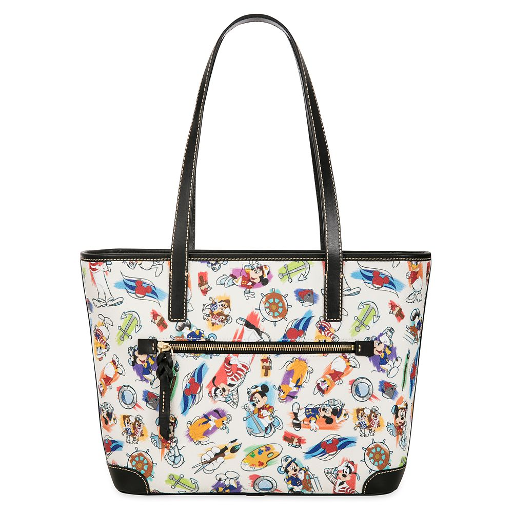 ShopDisney DCL Captain Mickey Mouse Friends Disney Ink Paint Tote Dooney Bourke 3