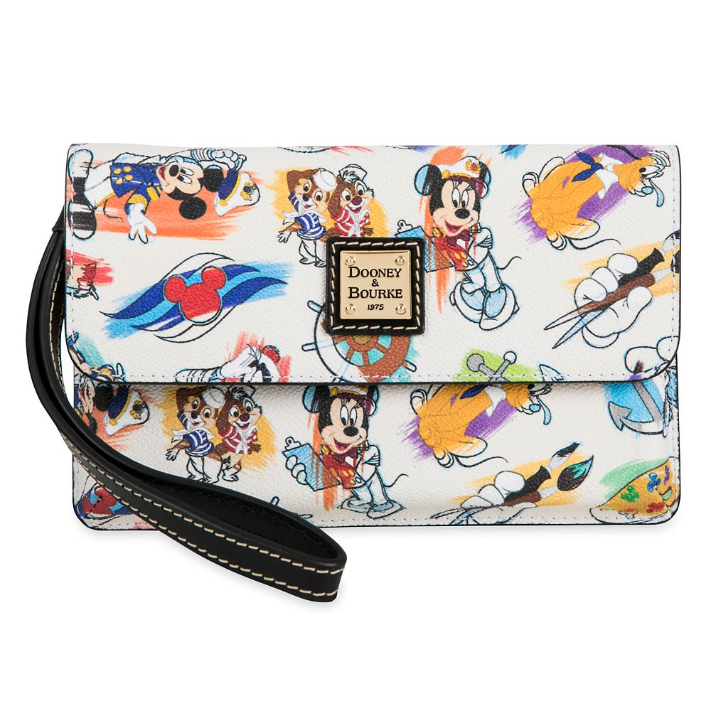 ShopDisney DCL Captain Mickey Mouse Friends Disney Ink Paint Wristlet Dooney Bourke 1
