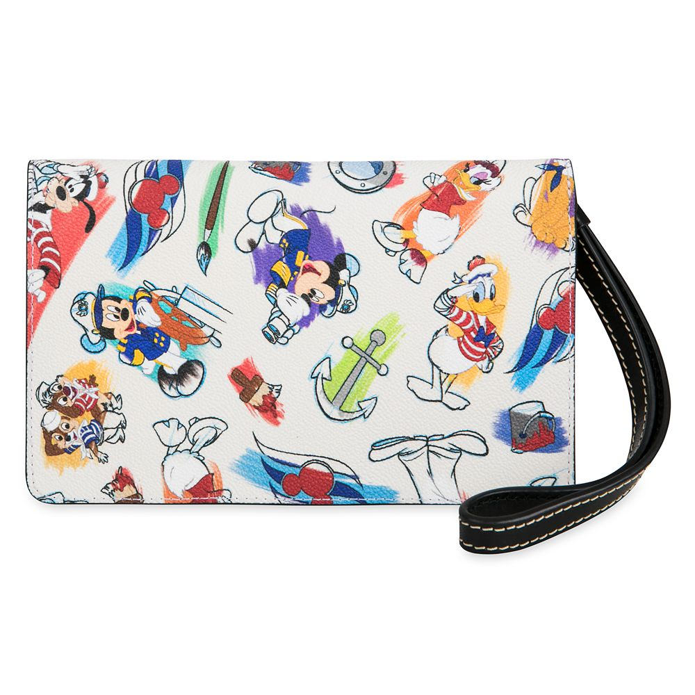 ShopDisney DCL Captain Mickey Mouse Friends Disney Ink Paint Wristlet Dooney Bourke 2