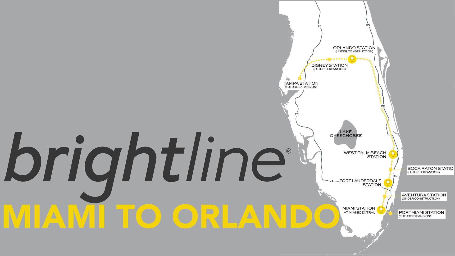 Brightline Miami To Orlando Route Disney Springs Expansion
