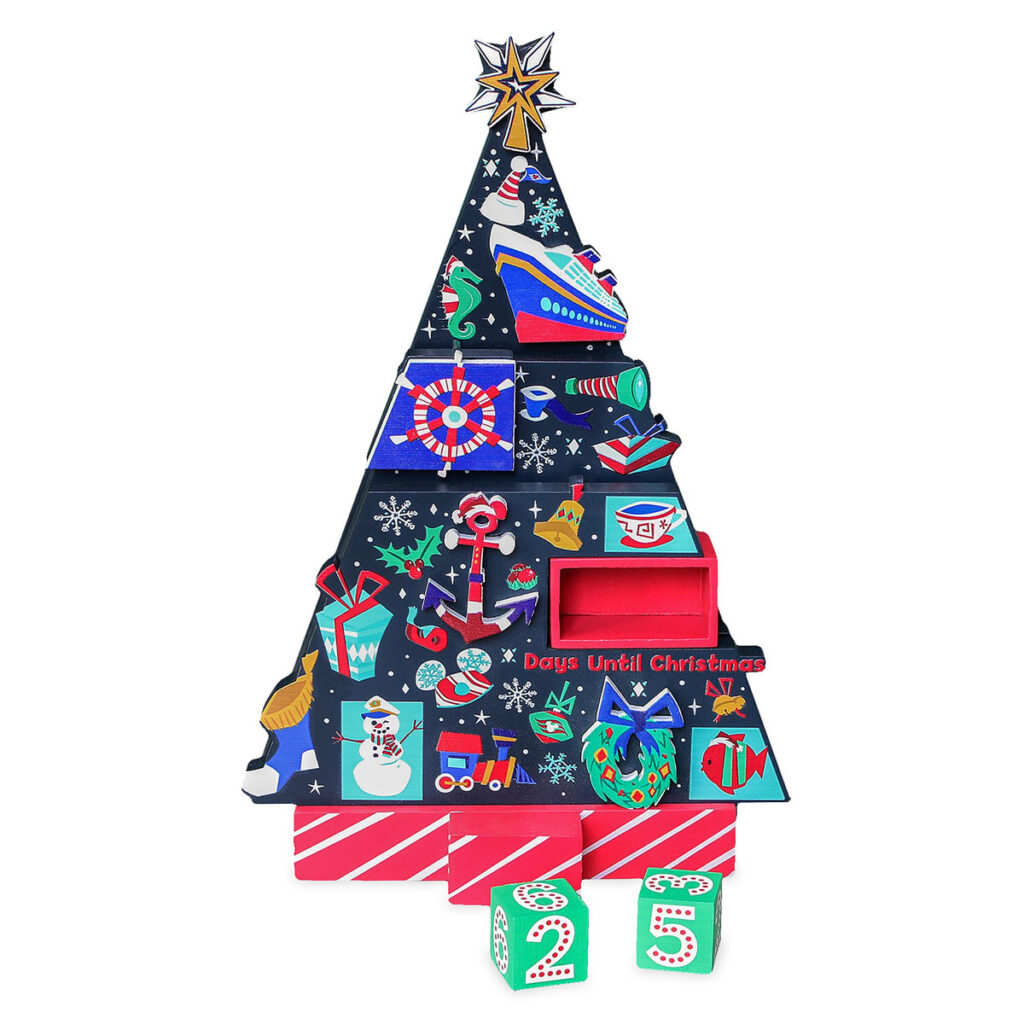 DCL Countdown Christmas Wooden Holiday Tree 1